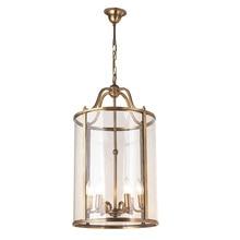 Lámpara americana colgante de estilo europeo para escaleras, pasillo, casa, jardín, Carnaval, bronce, jaula para pájaros, club, LO7309