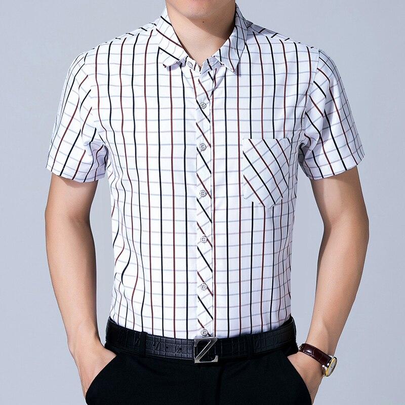 Turn Down Collar Slim Fit Casual Fashion Shirt Mens Short Sleeve Button Down Shirt