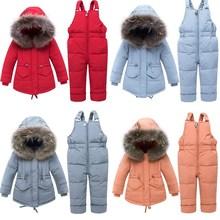 2019 New Orangemom Baby Winter Snowsuits Childrens Overalls Newborn Coat Infant Duck Down Boys & Girl