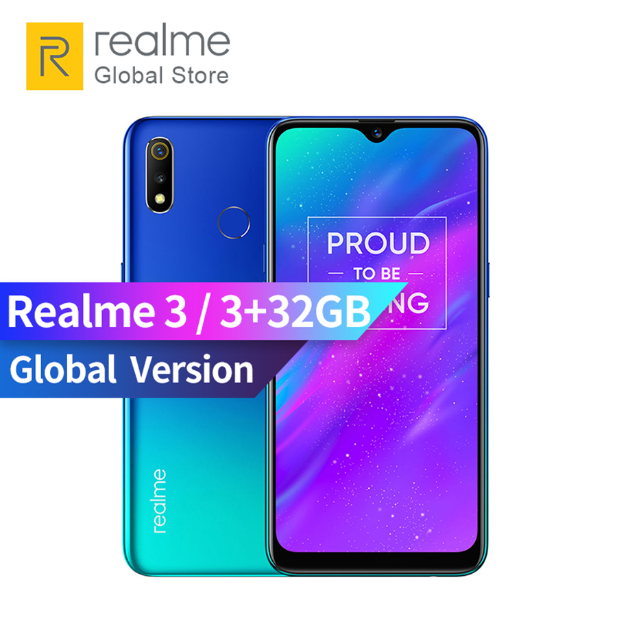 "Original Global Version OPPO realme 3 3GB RAM 32GB ROM Helio P70 AI Processor 6.22"" Dewdrop ColorOS 6.0 + Android P Smartphone"