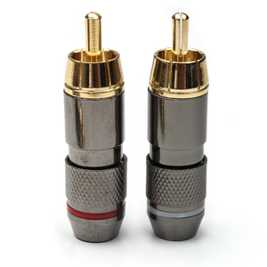Image 5 - 12PCS RCA Banana Plug Monster 24K Gold Plated Copper Banana Plug Double Self Locking Wire Connectors Speaker Audio Adapter Kit