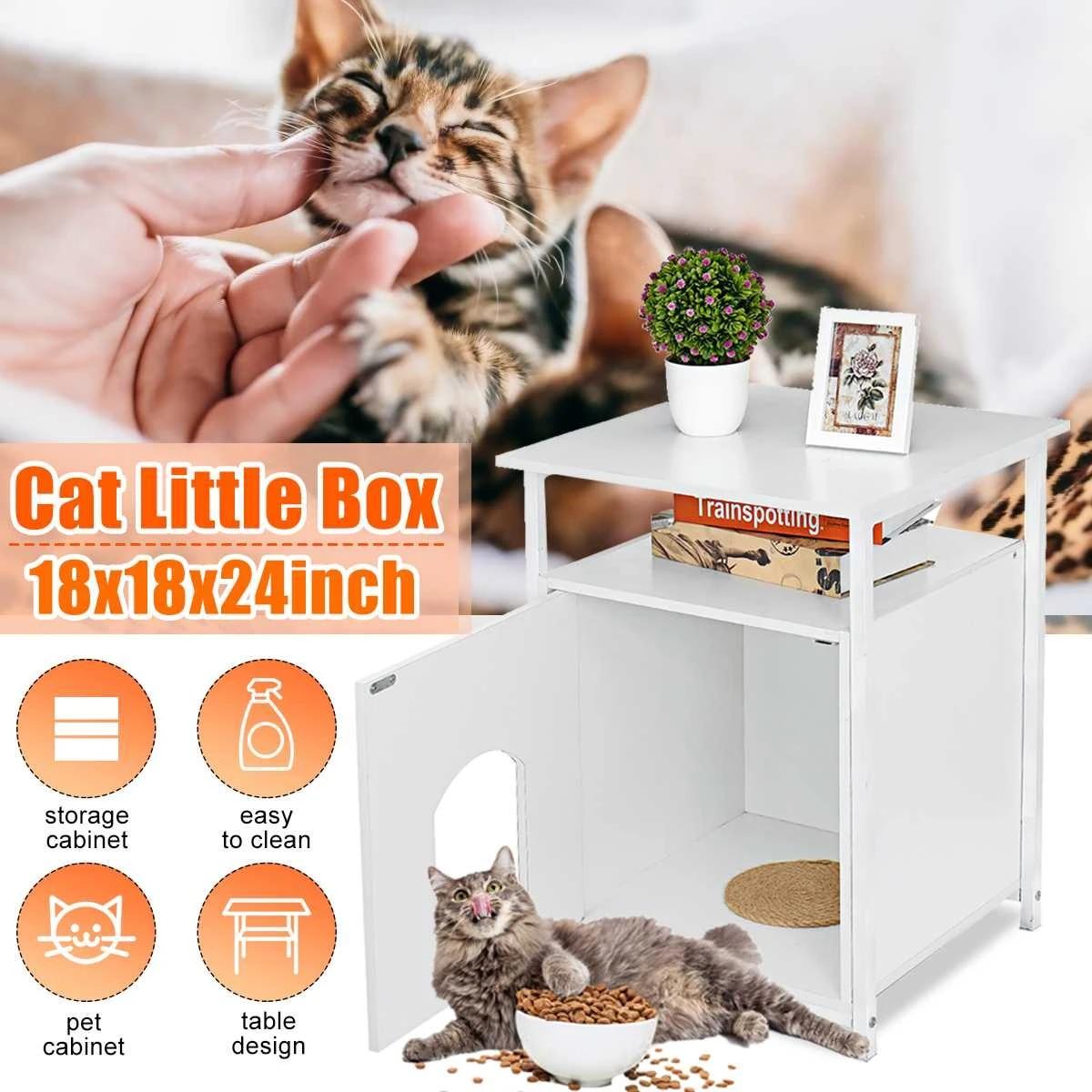 18x18x24in Nightstand Pet Cat House Decorative Cat Home Nightstand Litter Box Furniture Enclosure Indoor Pet Crate Cat Washroom Furniture Scratchers Aliexpress