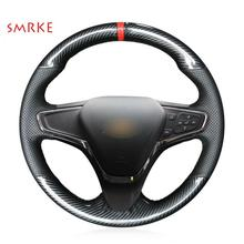 Carbon Fiber Leather Car Steering Wheel Cover for Chevrolet Cruze Volt New Cruze 17 new for cruze window decorations for chevrolet 18 cruze stainless steel decorative stripe modification