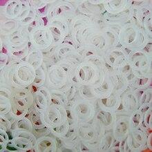 100 cái/lốc Thiết Thực Vòng Nhựa TỰ LÀM Túi Dây Đeo May Dệt Tiếp Tế Sáng Tạo Thủ Công Đan Phụ Kiện Đường Kính 2cm