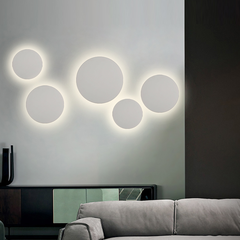 Image 2 - Modern Indoor Fashion LED Wall Lamp Living Room Decoration Wall Light Home Lighting Fixture Loft Stair Light Aluminum AC90 260VLED Indoor Wall Lamps   -