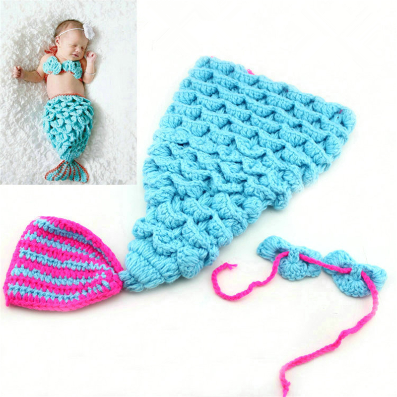 Baby Cartoon Hat And Baby Clothes For Photo Shoot Taking, Souvenirs Newborn Photography Props Accessories By Knitting Needles