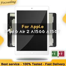 9.7 new new novo para apple ipad 6 ar 2 a1567 a1566 display lcd tela de toque digitador assembléia substituição 100% novo grau