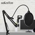 Микрофон Стенд фильтр для BM800 держатель Студия профессиональная 360 градусов подставка для микрофона клип с креплением ветрового стекла Мас...