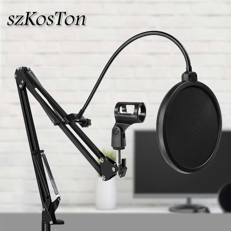Microphone Stand Filter For BM800 Holder Studio Professional 360 Degree Stand For Microphone Clip With Mounting Windscreen Mask image