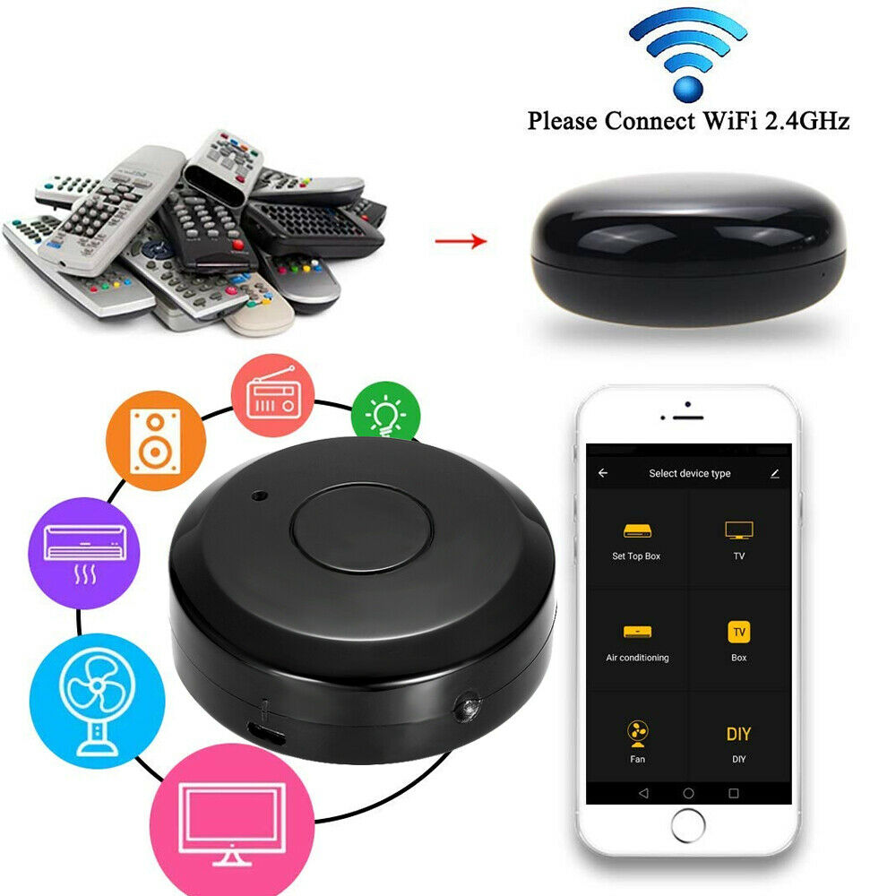 Smart Life WiFi-IR Afstandsbediening IR Control Hub Wi-Fi (2.4Ghz) Enabled Infrared Tuya Universal Remote Controller Smart
