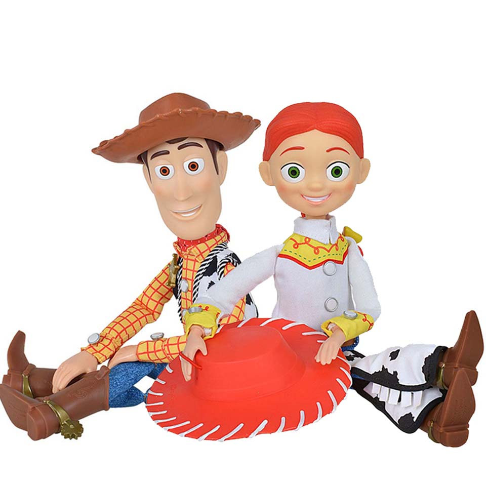 2pcs 43cm Toy Story 3 Talking Jessie&Woody Action Figures Model Toys Children Christmas Gift Collectible DollFree Shipping