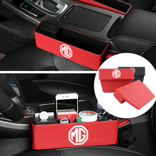 цена на Car Seat Gap Storage Box Multifunction Leather Box For MG GT MG3 MG5 MG6 MG7 Auto Central Control Case Car Interior Accessories