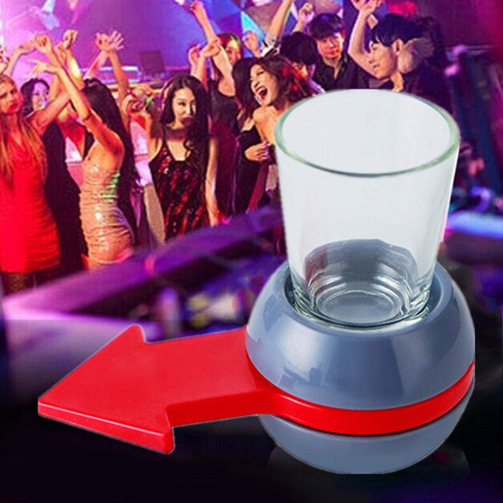 Funny Shot Spinner Party Game Rotatable Arrow Beer Wine Glass Cup Kit Spin The Shot Drinking Game Gifts Entertainment Supplies