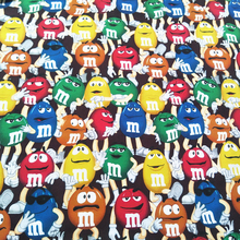 140CM Cartoon M Bean Print 100% Cotton Fabric Digital Printing for Dress Tissue Patchwork for Sewing DIY Kids Clothes