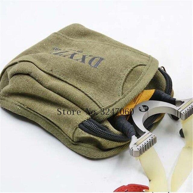 NEW 1pcs Slingshot fine Material canvas bags Balls Bag Case Pouch Holster Sling Shot Hunting Sports slingshot Accessories 1