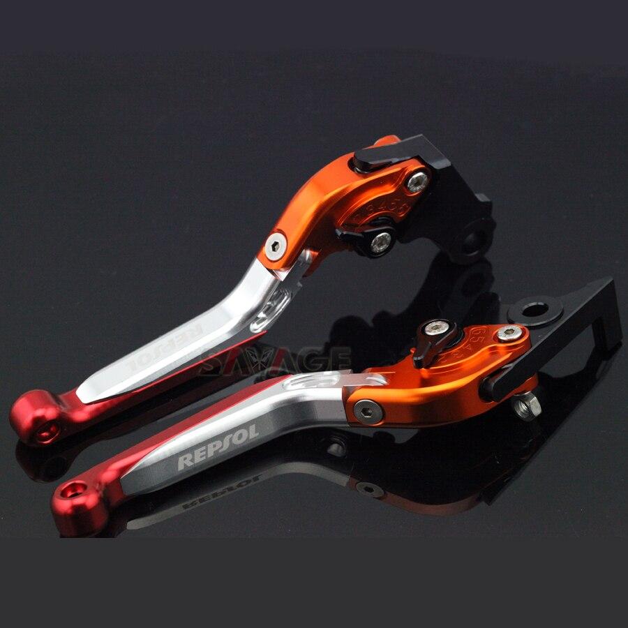 HONDA CBR250R CBR300R CB300F CBR500R CB500F CB500X CB190R CB190Xオートバイ折りたたみ拡張可能なREPSOL repsolブレーキレバー用ブレーキクラッチレバー