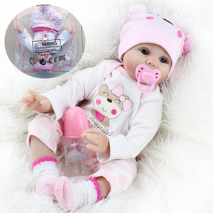 55cm Reborn Baby Dolls Cute Soft Handmade Realistic Newborn Silicone Vinyl Baby Dolls Toys for Girl Boys Kids Birthday Xmas Gift(China)