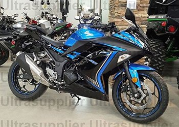Blue Black Complete Fairing Injection Bodywork for Kawasaki Ninja 300 EX300A EX300B 2013 2014 2015 2016 2017 ABS Plastic Molded