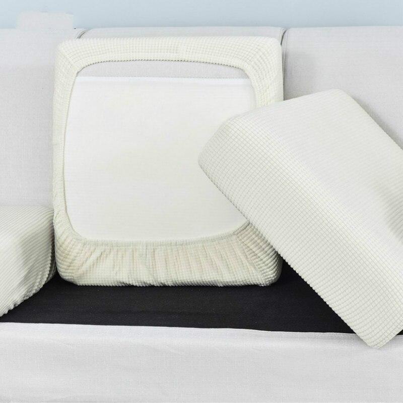 Funda de cojín elástica de Color sólido para sofá, funda de cuadros para sala de estar, cojín de protección de asiento adecuado para sofá en forma de L