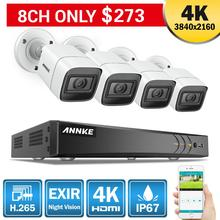 ANNKE 4K Ultra HD 8CH Video Security System 8MP 5in1 H.265 DVR With 4PCS Outdoor Weatherproof CCTV Surveillance Cameras Kit