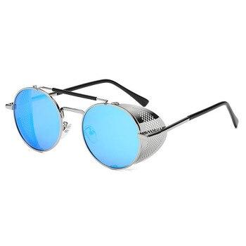 Fashion Steampunk Sunglasses Round Glasses Brand Designer Women Men Vintage Steam Punk Sun Glasses UV400 Shades Oculos de sol men s sunglasses fashion oversized sunglasses men brand designer goggle sun glasses female style oculos de sol uv400 o2