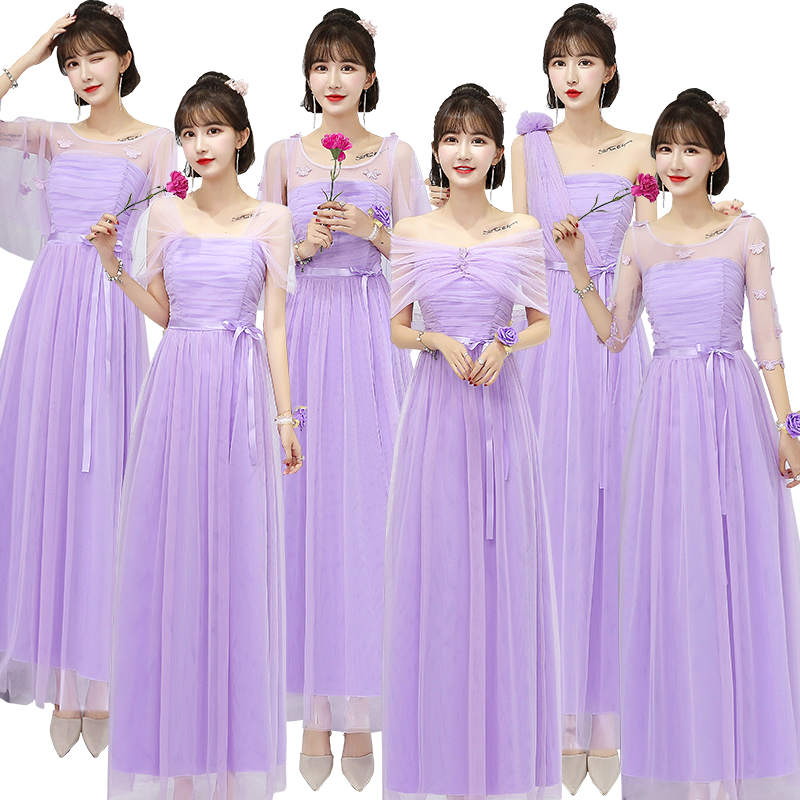 Bridesmaid Dresses Elegant Wedding Guest Tulle A-Line Princess Purple Formal Plus Size Party Prom New Years Eve Dress Vestido