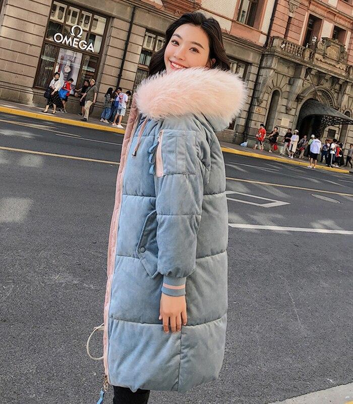 2019 High Quality Winter Jacket Women Velvet Fabric Hooded Thicken Fur_A7_8