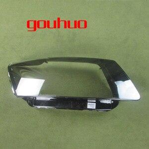 Image 2 - Audi için Q5 2010 2011 2012 far şeffaf kapak abajur lamba gölge lamba cam far kabuk Lens camı