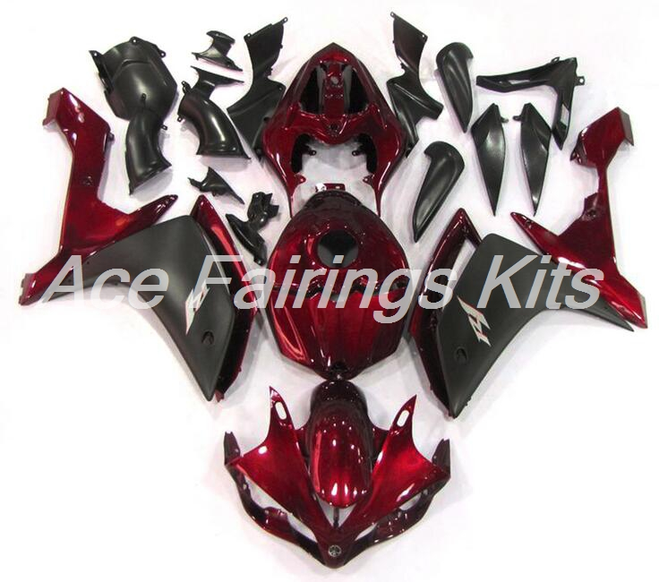 4 Free Gifts New ABS Full Tank <font><b>Fairing</b></font> Fit For <font><b>Yamaha</b></font> YZF1000 <font><b>R1</b></font> <font><b>2007</b></font> 2008 07 08 YZF <font><b>R1</b></font> bodywork Custom <font><b>Fairings</b></font> Kit Dark Red image