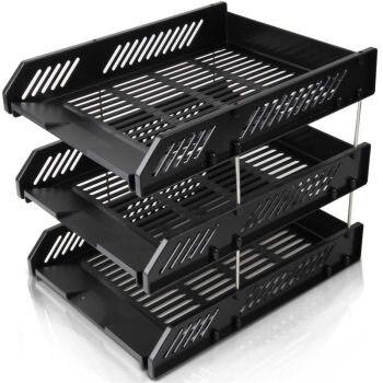 9209 Document Box Three-tier Disk Document Basket Rack stationery organizer office supplies desk accessories desktop storage