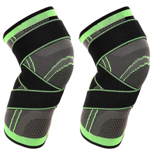 цена на 1pcs Knee Protector Kine Brace Pressurized Elastic Knee Pads Bandage For Fitness Running Basketball volleyball Knieschoner