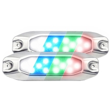Luces LED subacuáticas 4 en 1 para barco, Luz LED multicolor de 7 \
