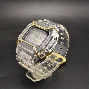 Image 2 - Набор прозрачных часов DW5600/5610/6900, водонепроницаемый резиновый ремешок, спортивный ремешок, Безель