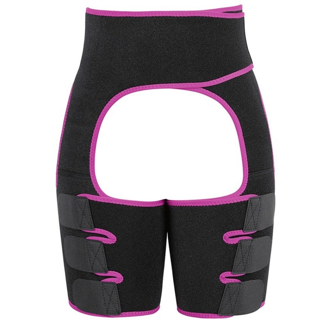 Hot Neoprene Slimming Waist Shapers Belt Butt Lifter and Thigh Trimmer Slimming Leg Shapers Push Up Neoprene Sweat Shapewear 3