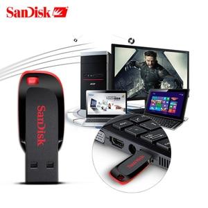 Image 3 - Echte SanDisk Cruzer Fit CZ50 USB Stick 128GB 64GB 32GB USB 2,0 pen drive memory stick mini Stift Sticks 16GB 8GB U disk