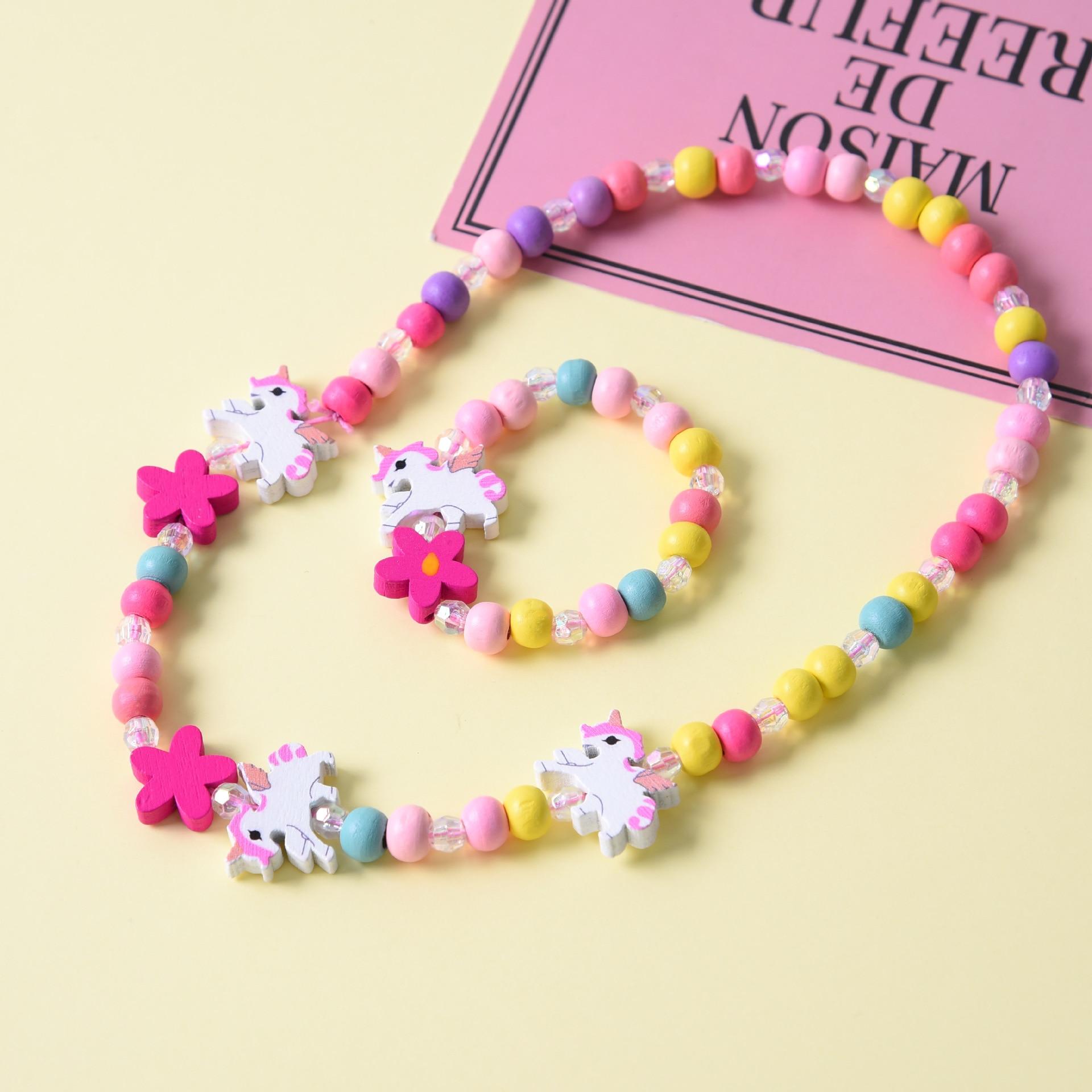 2 шт./компл., модное ювелирное изделие, милое животное, ожерелье, браслет, Модное детское ювелирное изделие, подарок на день рождения для дево...