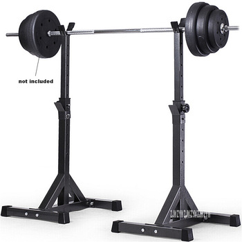 Steel Barbell Stand Weight Lifting Split Barbell Squat Rack Stand Adjustable Height Barbell Semi-Frame Indoor Fitness Equipment