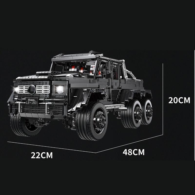 3300 шт. Technic внедорожники MOC G63AMG 6X6 LAND CRUISER набор модельных скоростных внедорожников кирпичи гоночные машины строительные блоки игрушки - 2