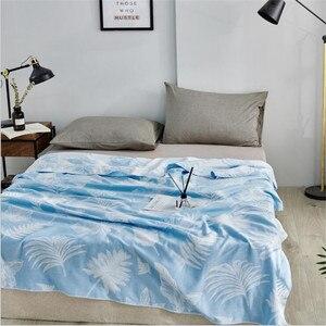Image 4 - במבוק כותנה קיץ שמיכה למבוגרים מצעים שמיכת כיסוי המיטה 150*200 cm 2 שכבות מוסלין שינה גזה שמיכת עבור אחר הצהריים תנומה