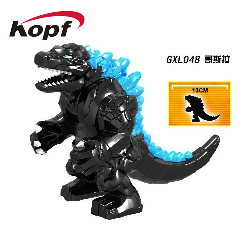 Single Sale Action Toy Famous Movie Black Purple Super Red Lotus Mutant Dinosaur Building Blocks Toys For Children GXL048