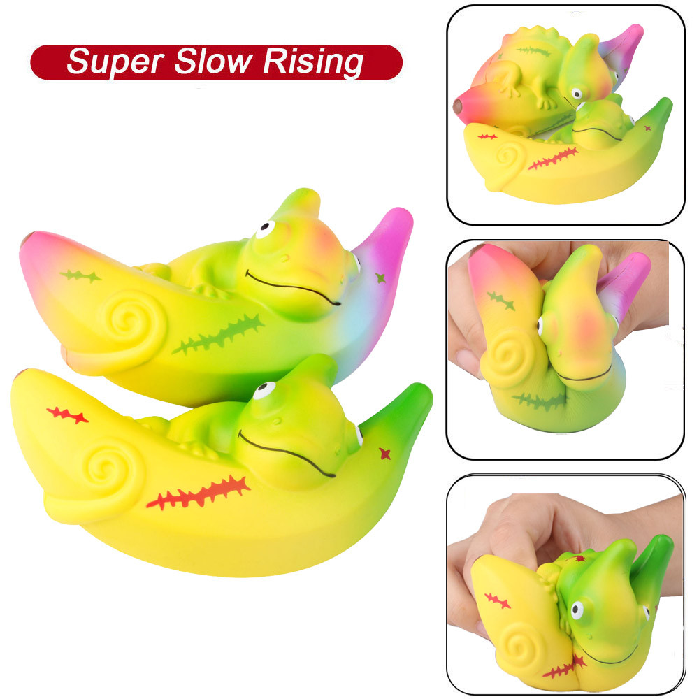 Cute Chameleon Stress Reliever Scented Super Slow Rising Kids Squeeze Toys New Squeeze Children's Toys  L0110