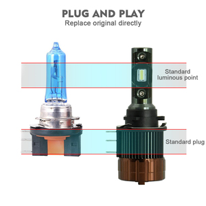 Image 5 - Cnsunnylight plug play h15 carro led farol lâmpadas canbus 12000lm 6000 k dia running luzes drls substituir para ford edge/explorer