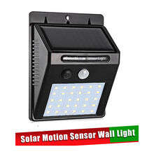Waterproof 30 LEDs Solar Panels Power PIR Motion Sensor Garden Outdoor Light For Outdoor Wall Yard street wall spot floodlight s 30 leds solar pir motion sensor light lawn lamp outdoor ip44 waterproof abs body patent solar power wall for house