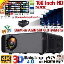 W80 Mini Projector with Android WiFi 3D LED Projector 2300Lumens TV