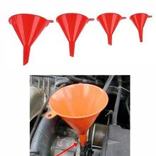 Dropship 4Pcs/Set Multi Use Funnel Household Kitchen Garage Liquid Petrol Funnel Kits Red Auto Car Accessories Filling Funnel