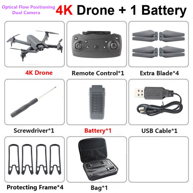 Newest Drone 4k Wide Angle HD Dual Camera 1080P WiFi FPV Drone Optical flow positioning Maintain Height Quadcopter RC Helicopter