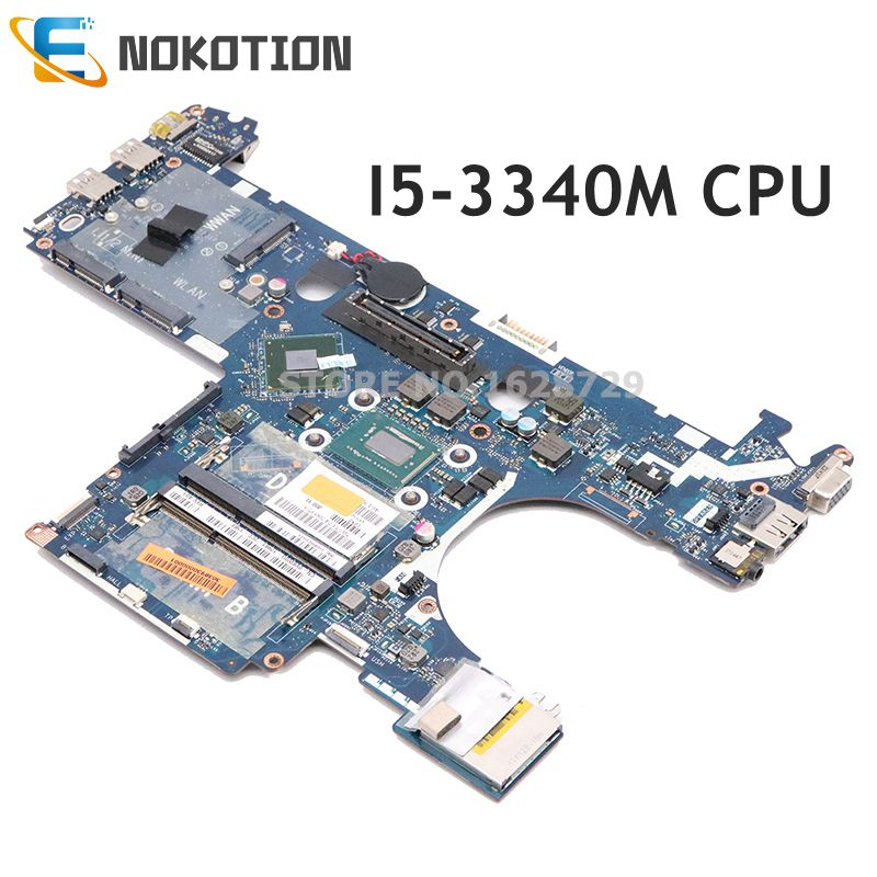 NOKOTION CN-0KH82H 0KH82H KH82H QAM00 LA-7731P For Dell Latitude E6230 Laptop motherboard <font><b>I5</b></font>-<font><b>3340M</b></font> CPU DDR3 full test image