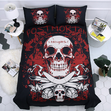 Sugar Skull 3D Printing Bedding Set Duvet Covers Pillowcases Dark Comforter Sets Bedclothes Bed Linen