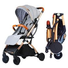 ILcomun Baby Stroller Trolley Car Trolley Folding Baby Carriage Buggy Lightweight Pram Easy Carry Stroller Original Pushchair