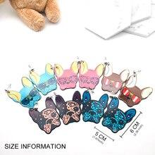 Acrylic French Bulldog Pug Dog Earrings Animal Jewelry For Women Girl Fashion Tr